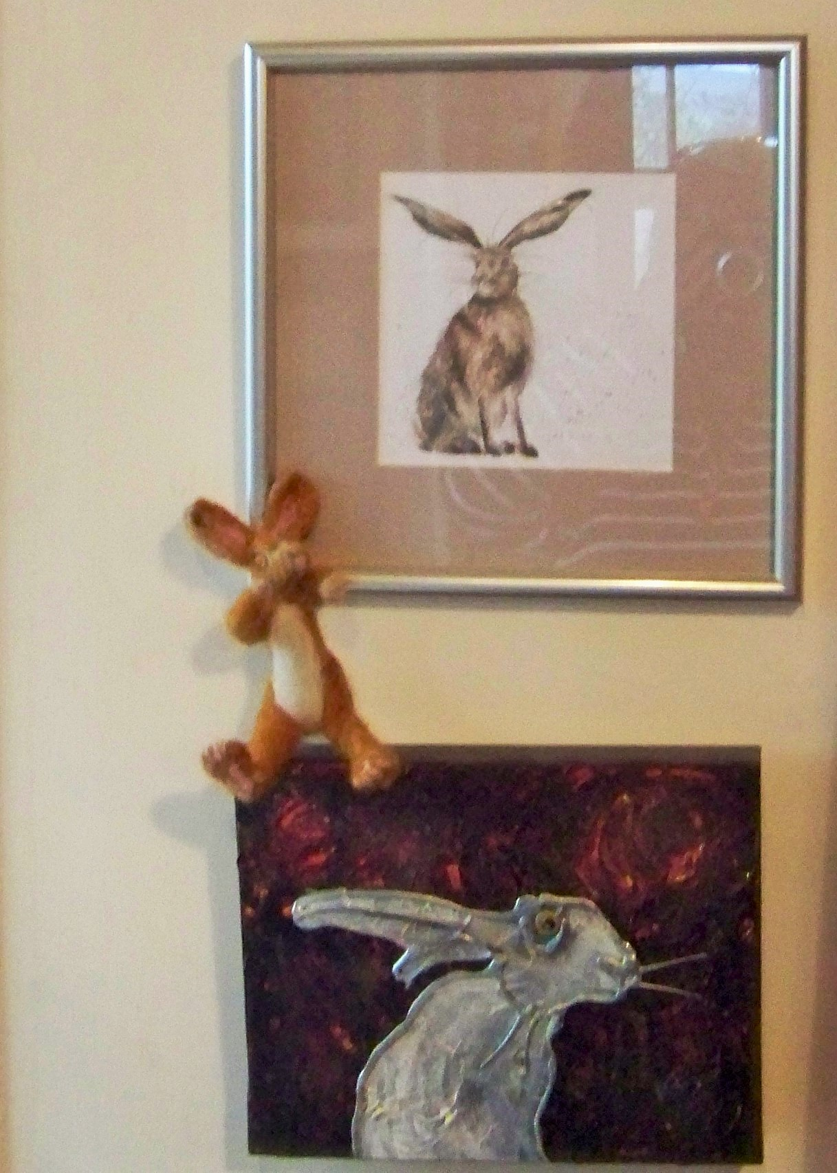 The woolly mascot of Orkney's annual storytelling festival held in the Orkney Islands in October - Story Hare
