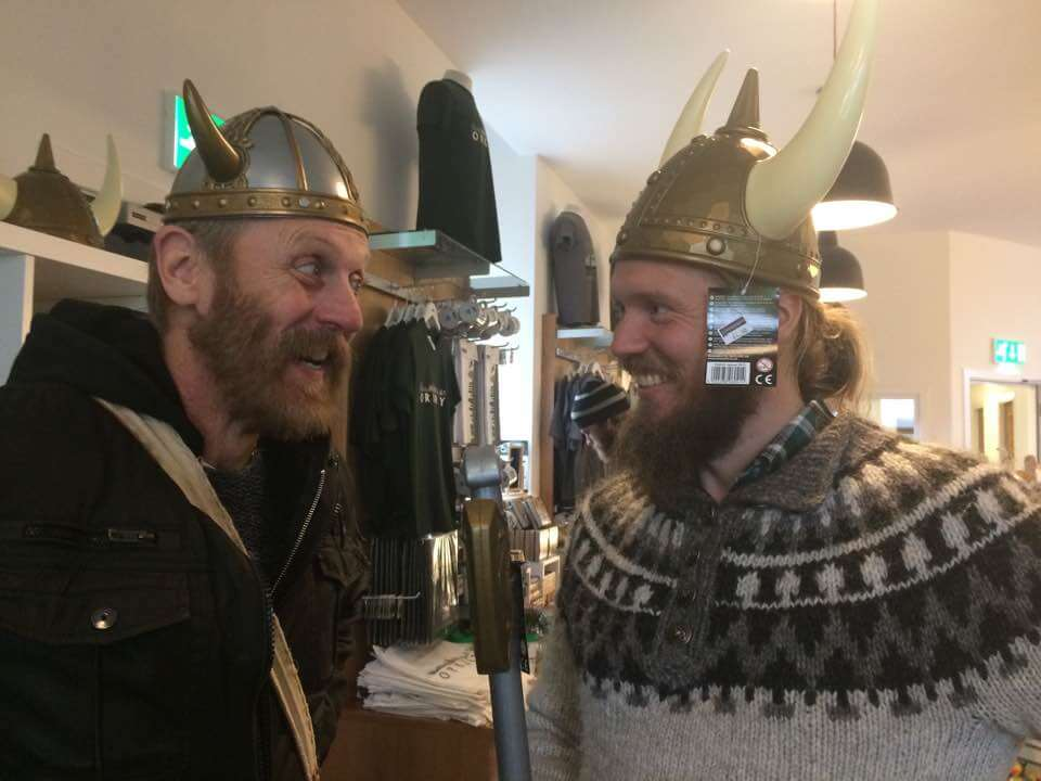 Two Nordic storytellers from the 2017 Orkney Storytelling Festival, Orkney Islands, UK