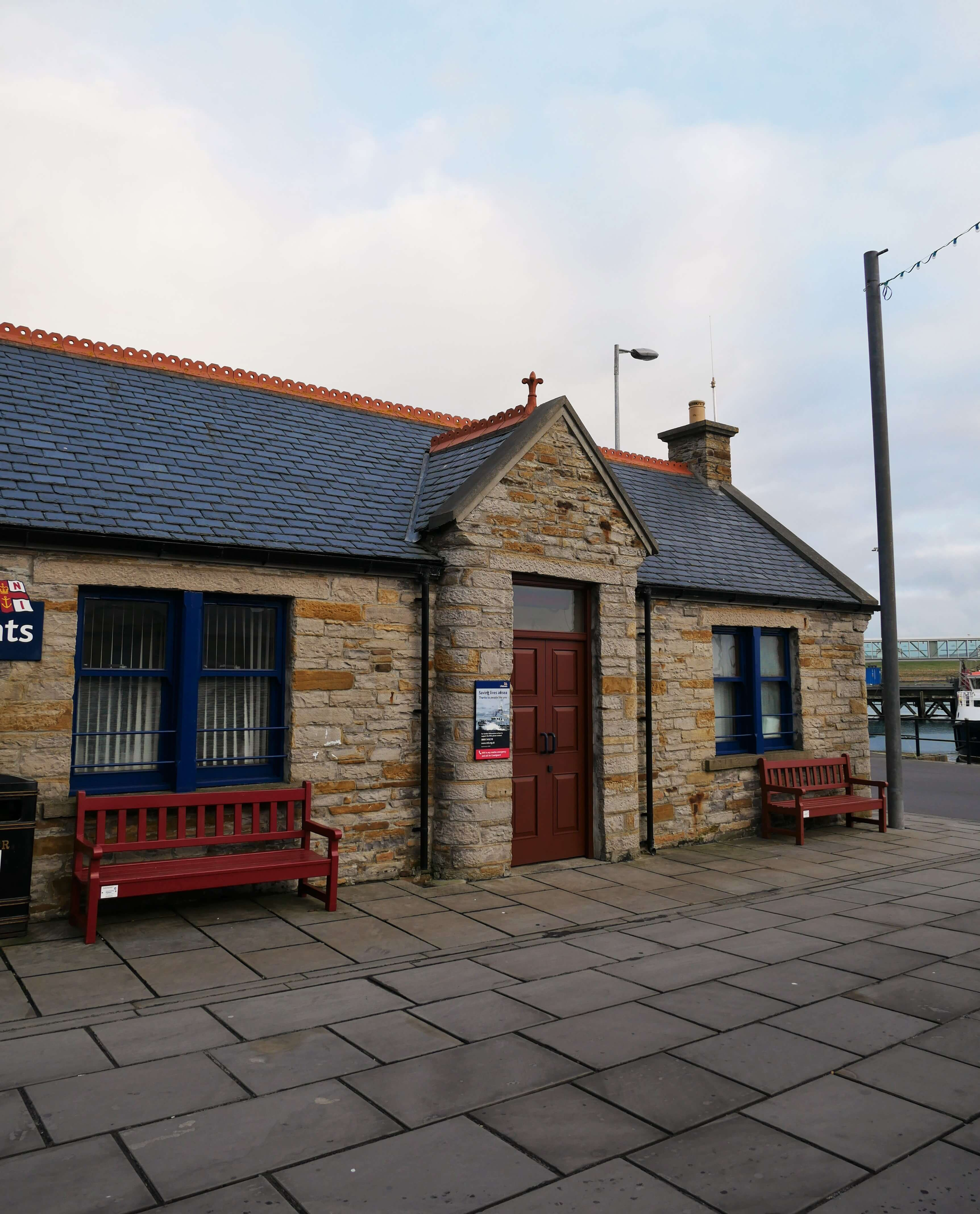 Spot in Stromness, Orkney, Scotland where Orcadian writer GMB used to while away the hours talking with his friends