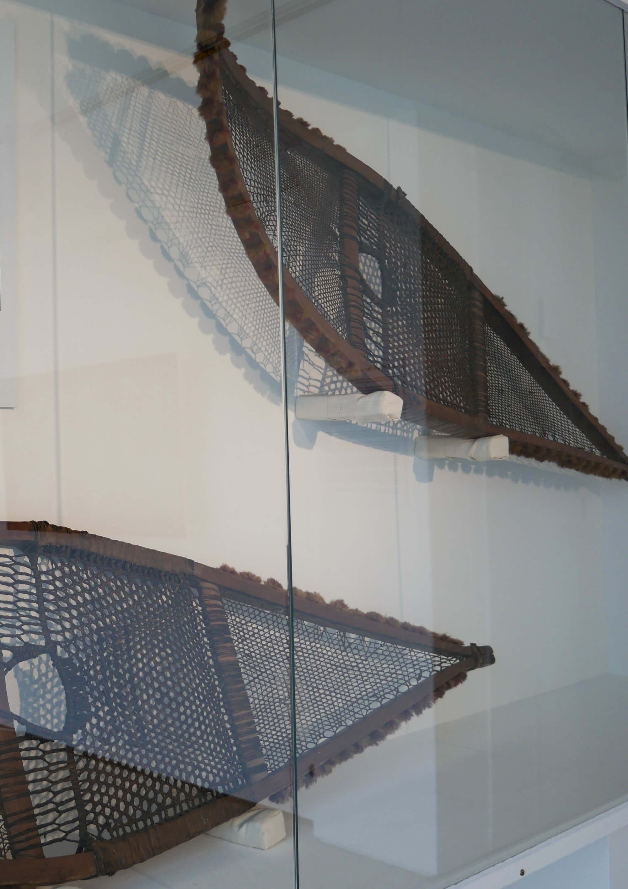 Arctic explorer J Rae's snowshoes, Stromness Museum, Orkney Islands, Scotland, UK