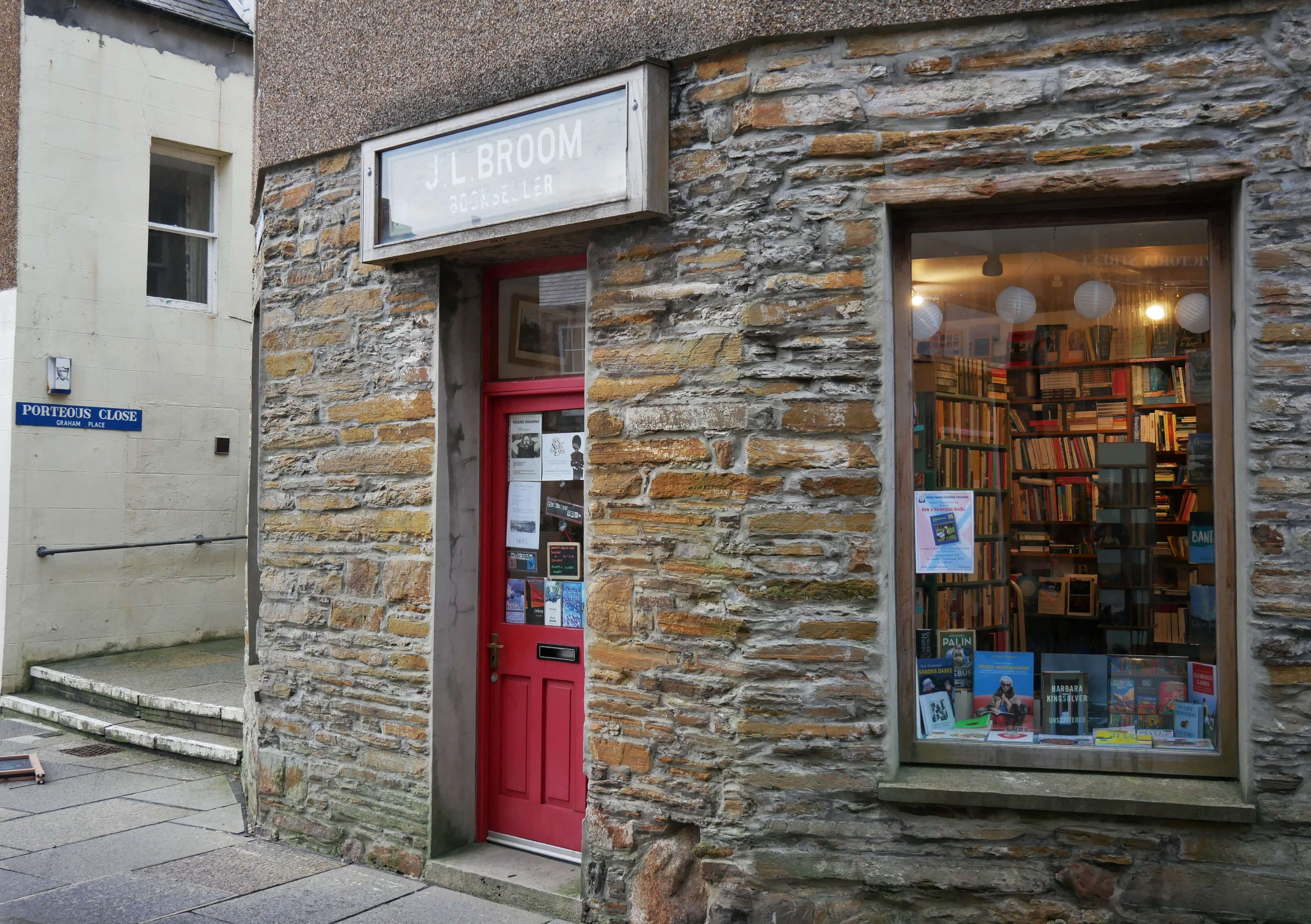 Stromness Books and Prints - a delightful, wee book shop in Stromness, Orkney Islands Scotland, where writer GMB used to spend a bit of time