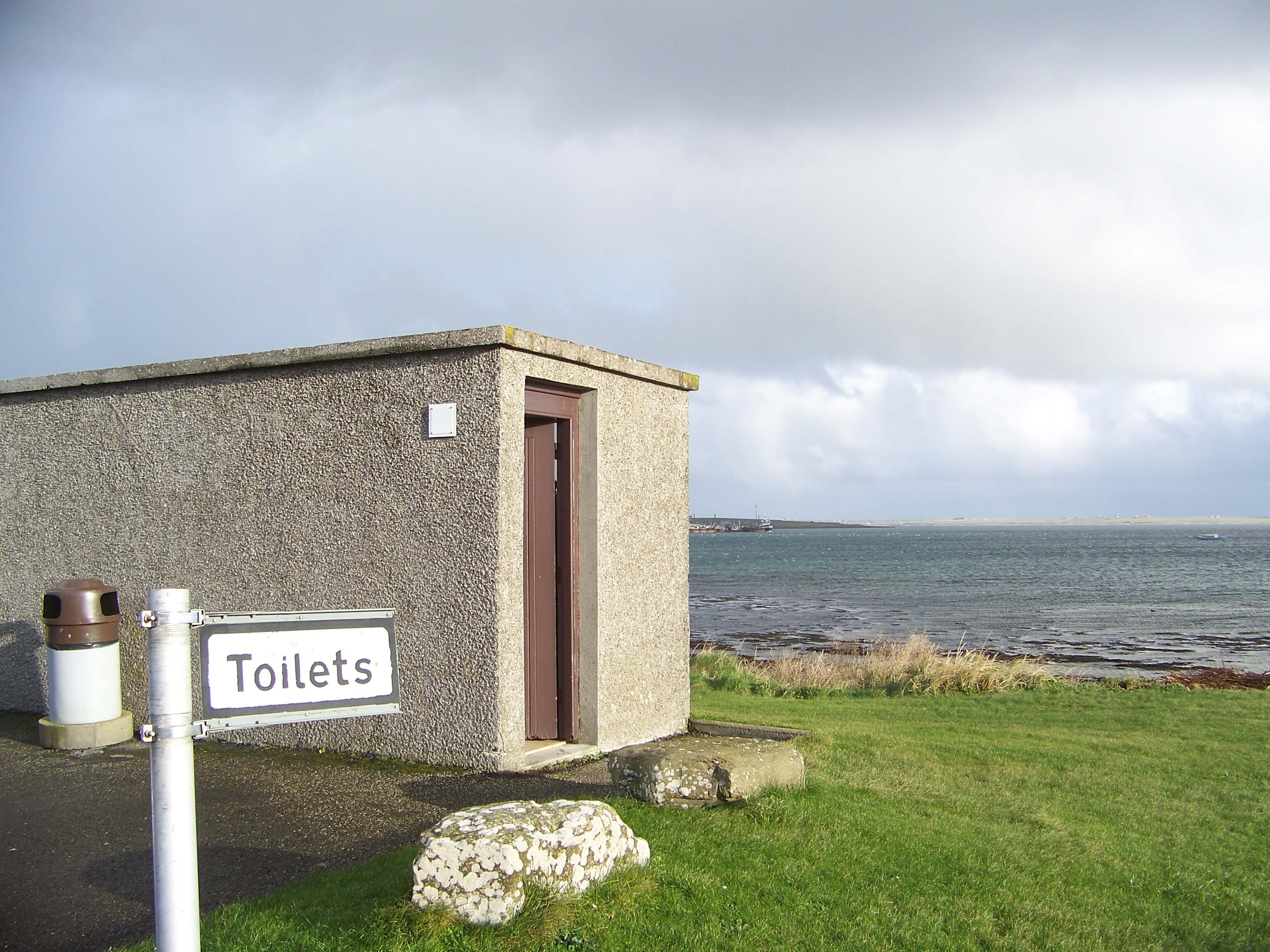 Public toilet in Westray, Orkney