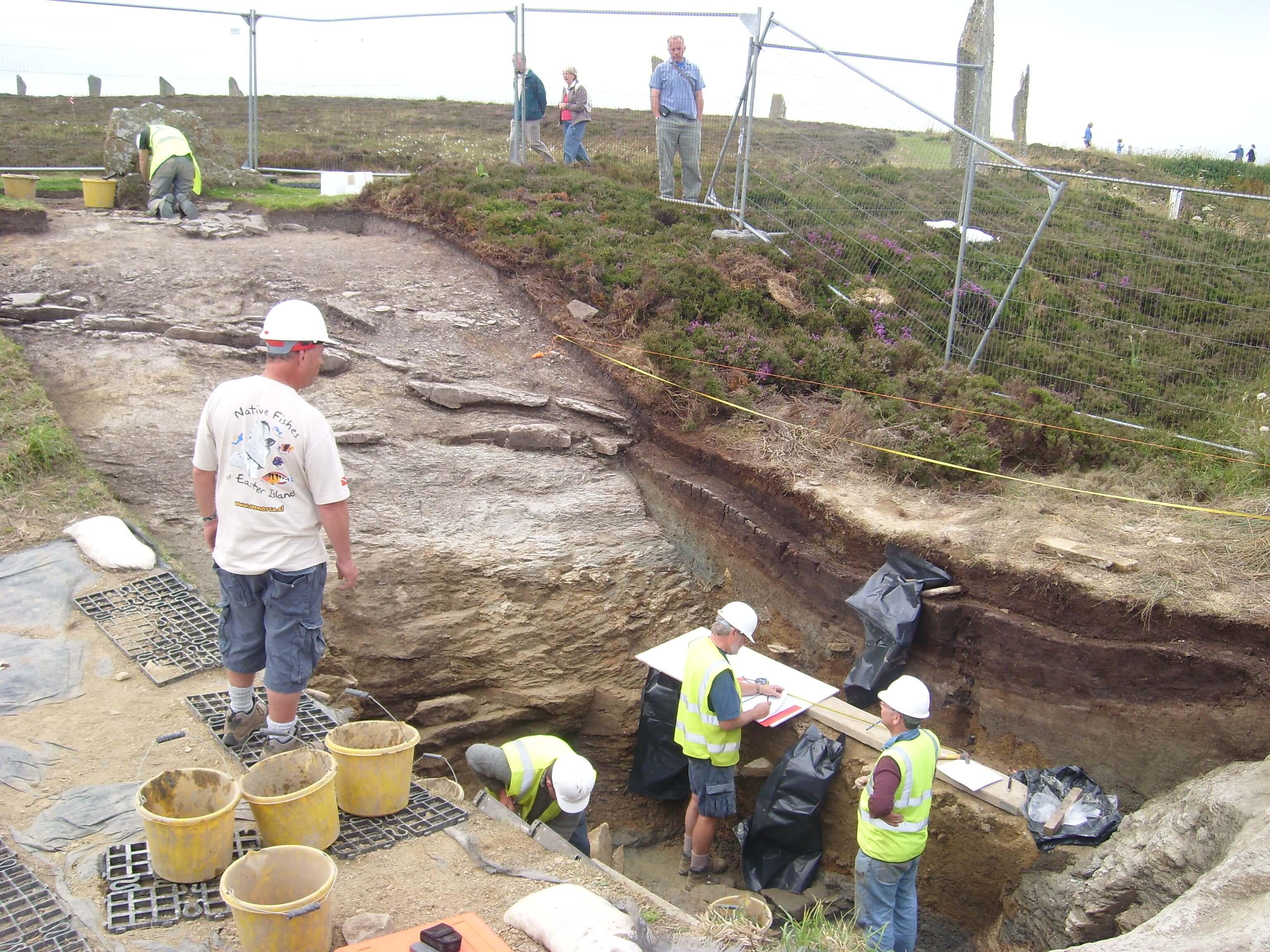 Ring of Brodgar dig 2008, Orkney