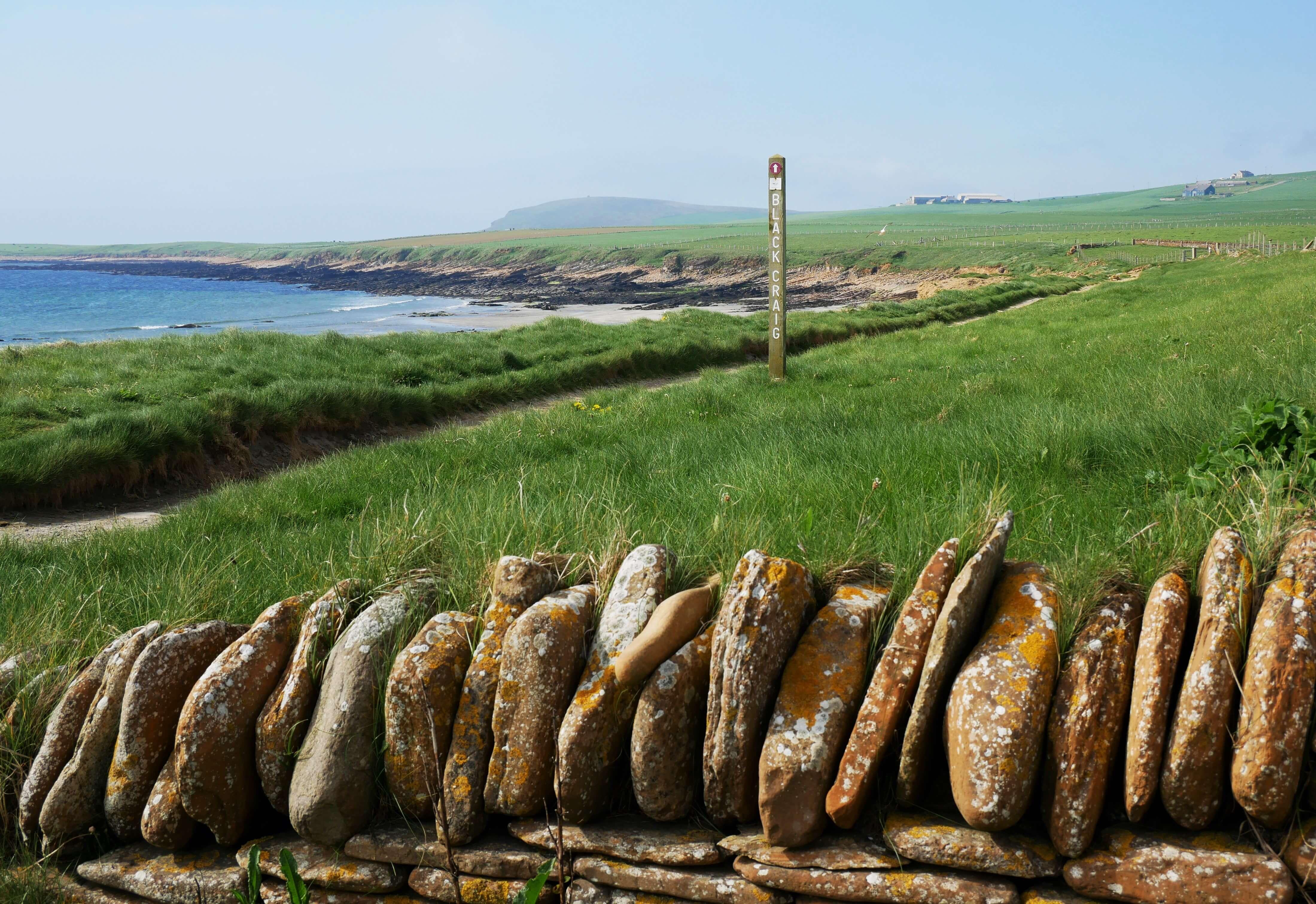 Trail to the Black Craig, Warbeth Beach, Orkney Islands, Scotland - Orkneyology.com