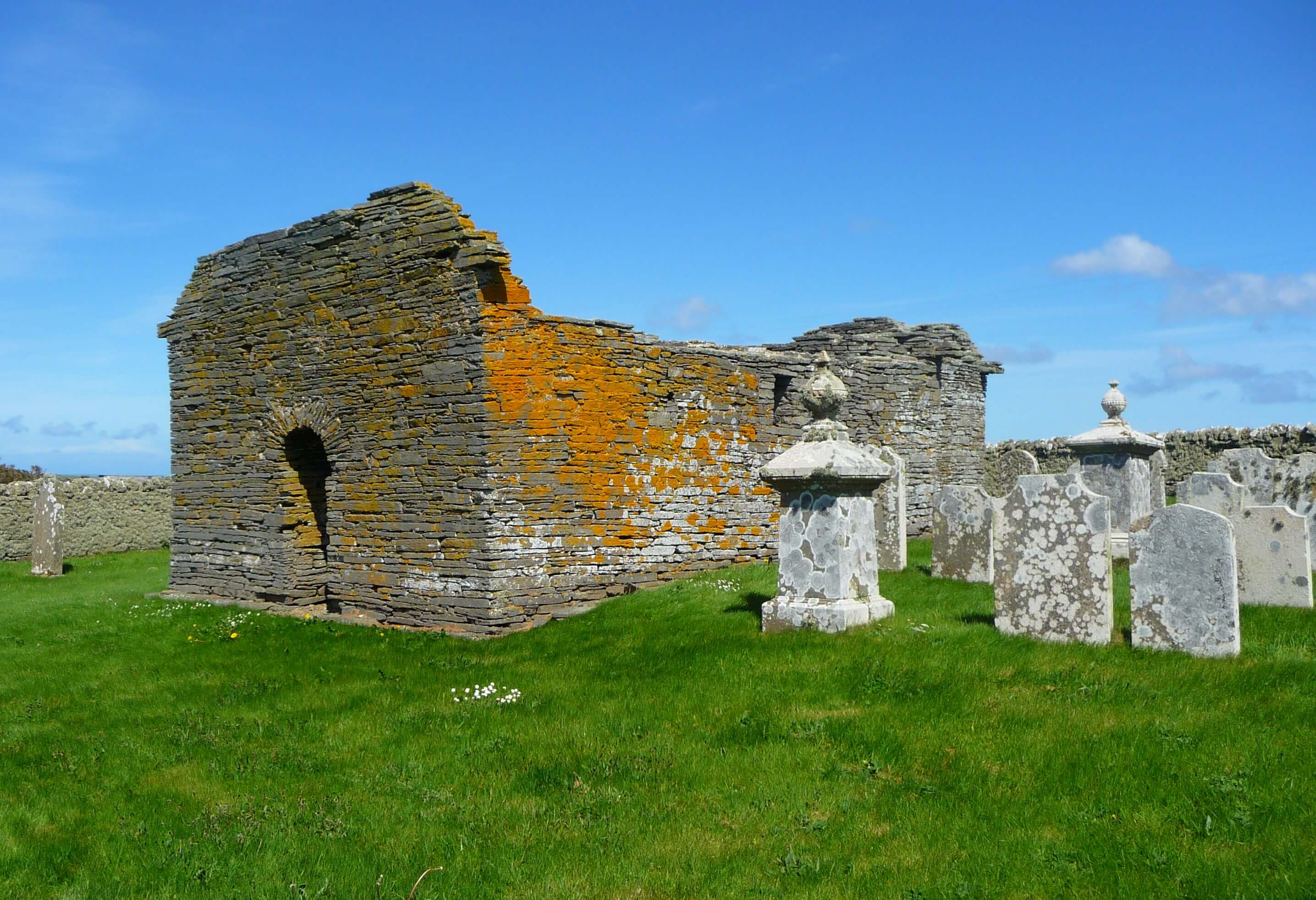 12th century St Mary's Kirk, island of Wyre, Orkney Islands, Scotland, UK