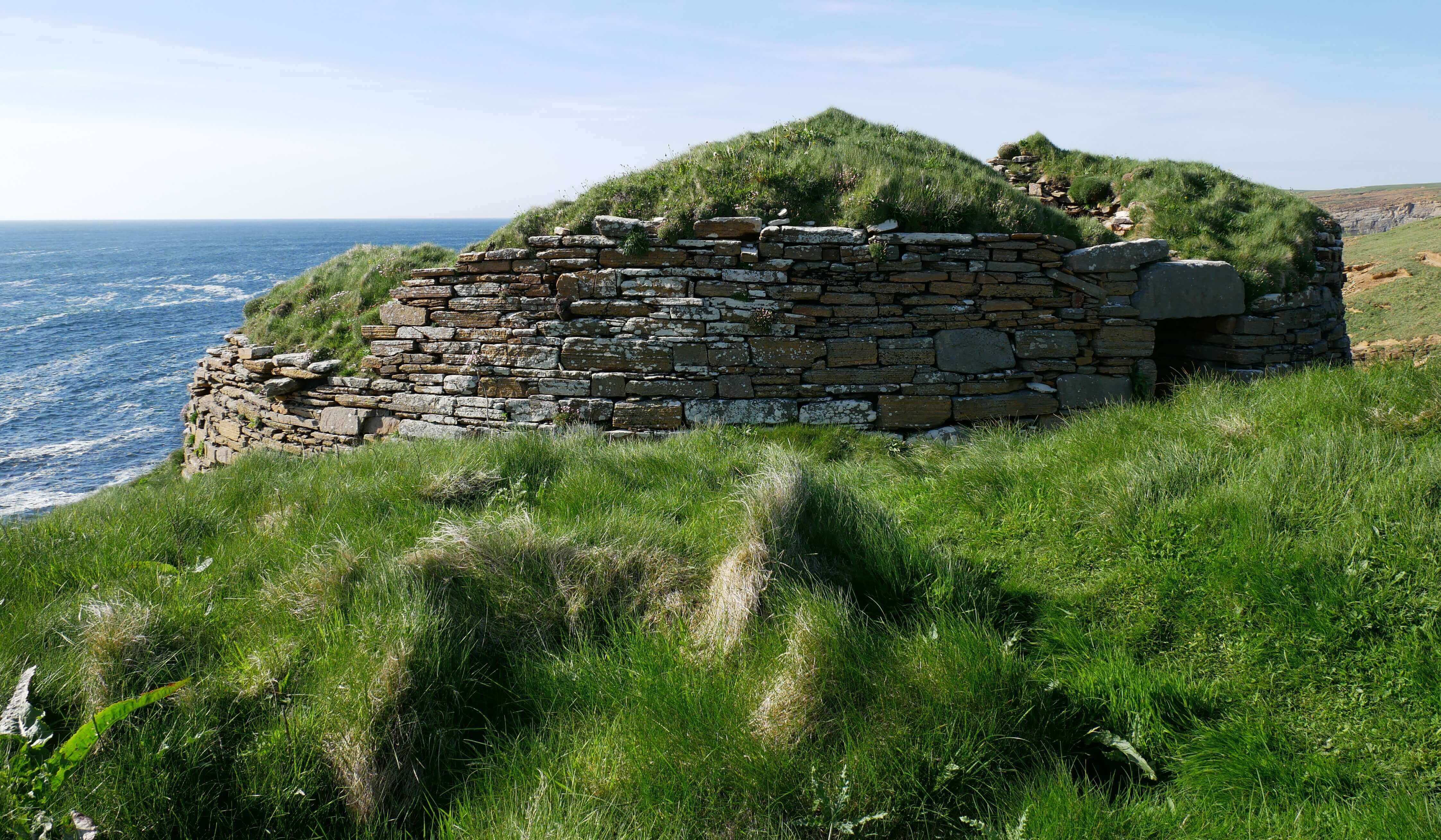 Iron age broch - Broch of Borwick, Yesnaby, Orkney Islands, Scotland