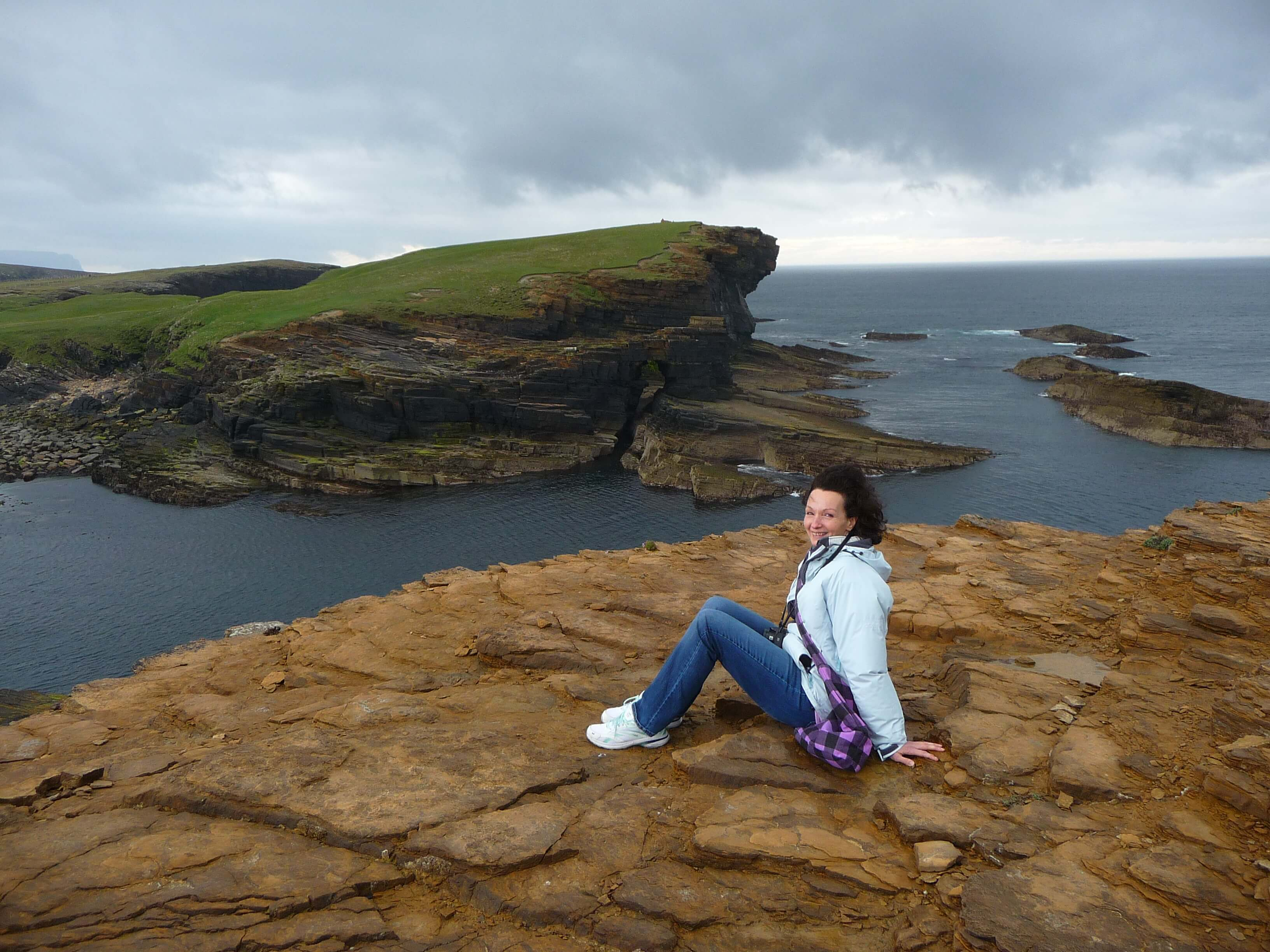 American expat Rhonda Muir of www.Orkneyology.com in the Orkney Islands, Scotland, UK.
