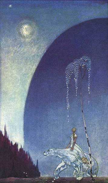 Kay Nielsen, illustrator. Peter Christen and Moe, Jorgen. East of the Sun and West of the Moon: Old Tales from the North. New York: George H. Doran, n.d. [1914].