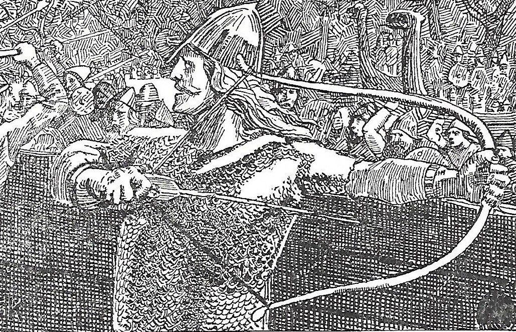 Illustration of an armed Viking