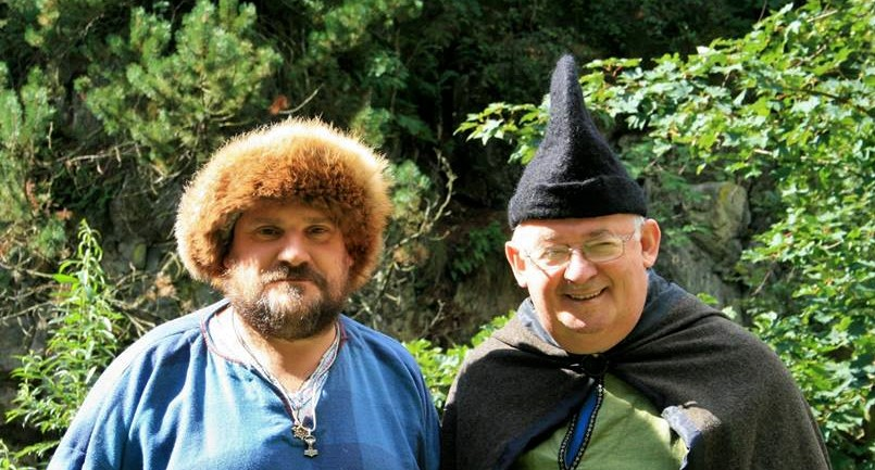 Traditional Scottish storytellers, Tom Muir of the Orkney Islands and Lawrence Tulloch of the Shetland Islands. Keeping Scotland's stories alive