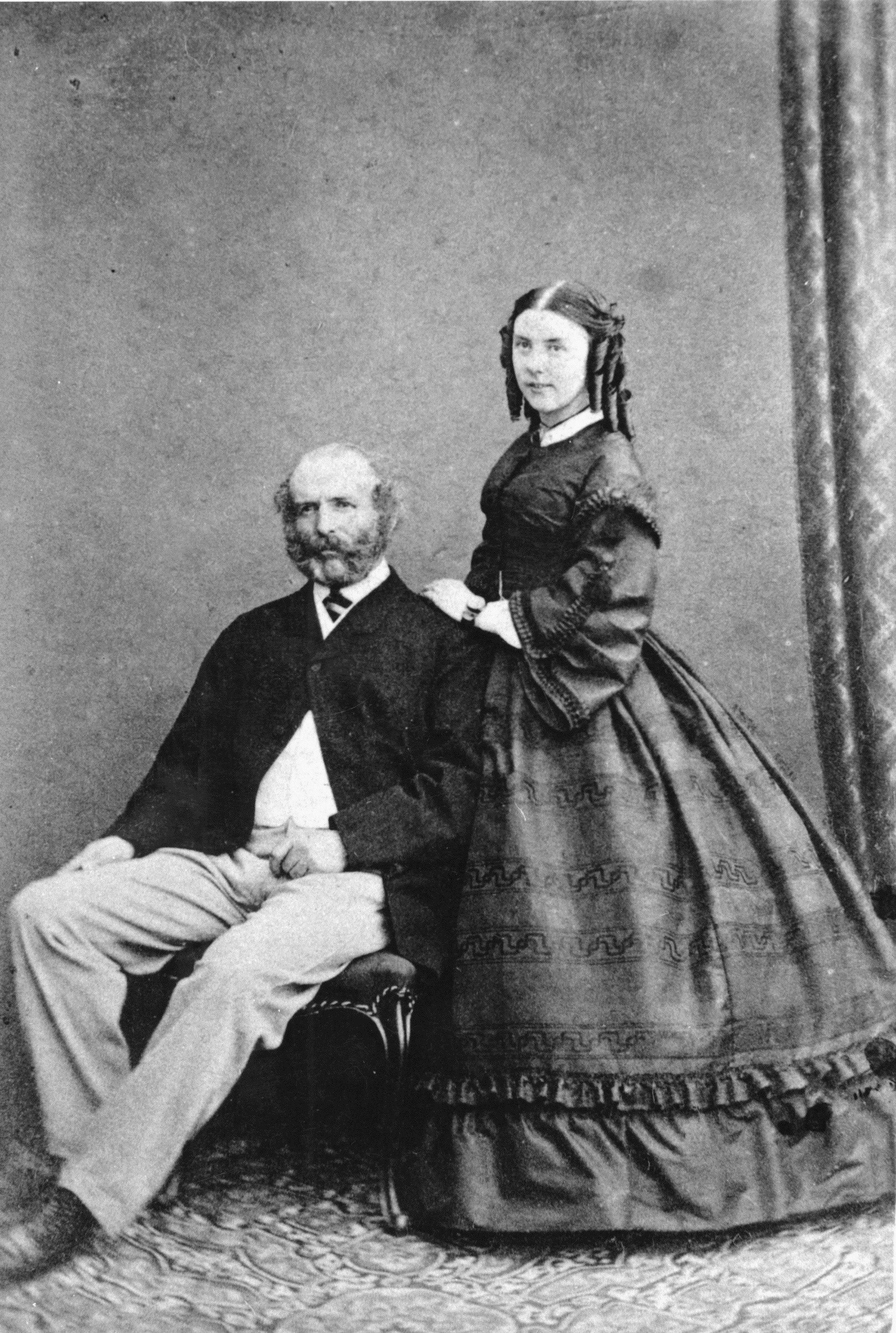 Orkney man, Arctic explorer John Rae with his wife, Kate Rae