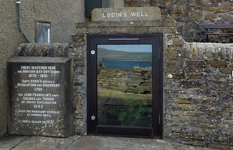 Login's Well, Stromness, Orkney Islands, Scotland, where the Erebus and Terror took on water before they sailed